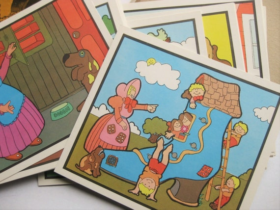 28 Milton Bradley educational Situation Pictures. 1972.  Classroom helps. Kids decor. Homeschooling. Mixed media