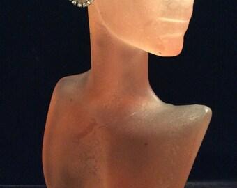 Vintage Faux Pearl Rhinestone Stud Earrings