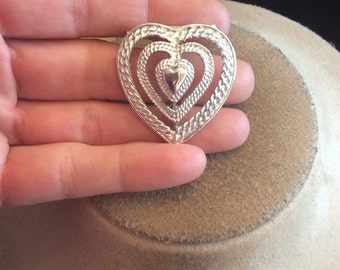 Vintage Signed Gerrys Heart Pin/Pendant