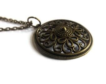 Bronze Swirl Necklace