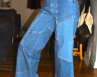 1970's bellbottom patchwork jeans.