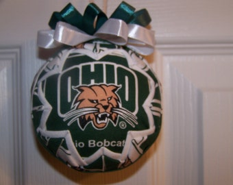 Ohio University/ Bobcats Quilted Ornament