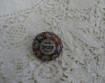 Italiaan mosaic brooch 1930's
