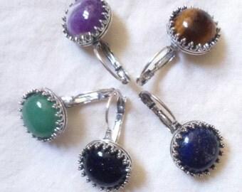 Crown Galaxy Earrings, dangle