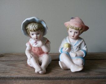 Vintage Piano Babies Bisque