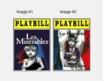 Theater / Show Charm - Playbill Play Bill - Les Miserables