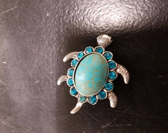 Turtle turquoise like 18mm snap