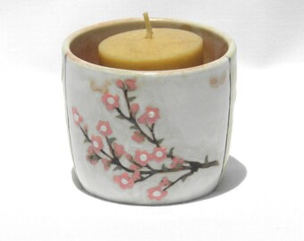 Votive Candle holder Cherry Blossom Pattern