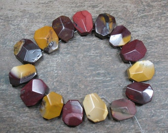 Mookaite Faceted Nuggets - 15 pieces - Item 73736
