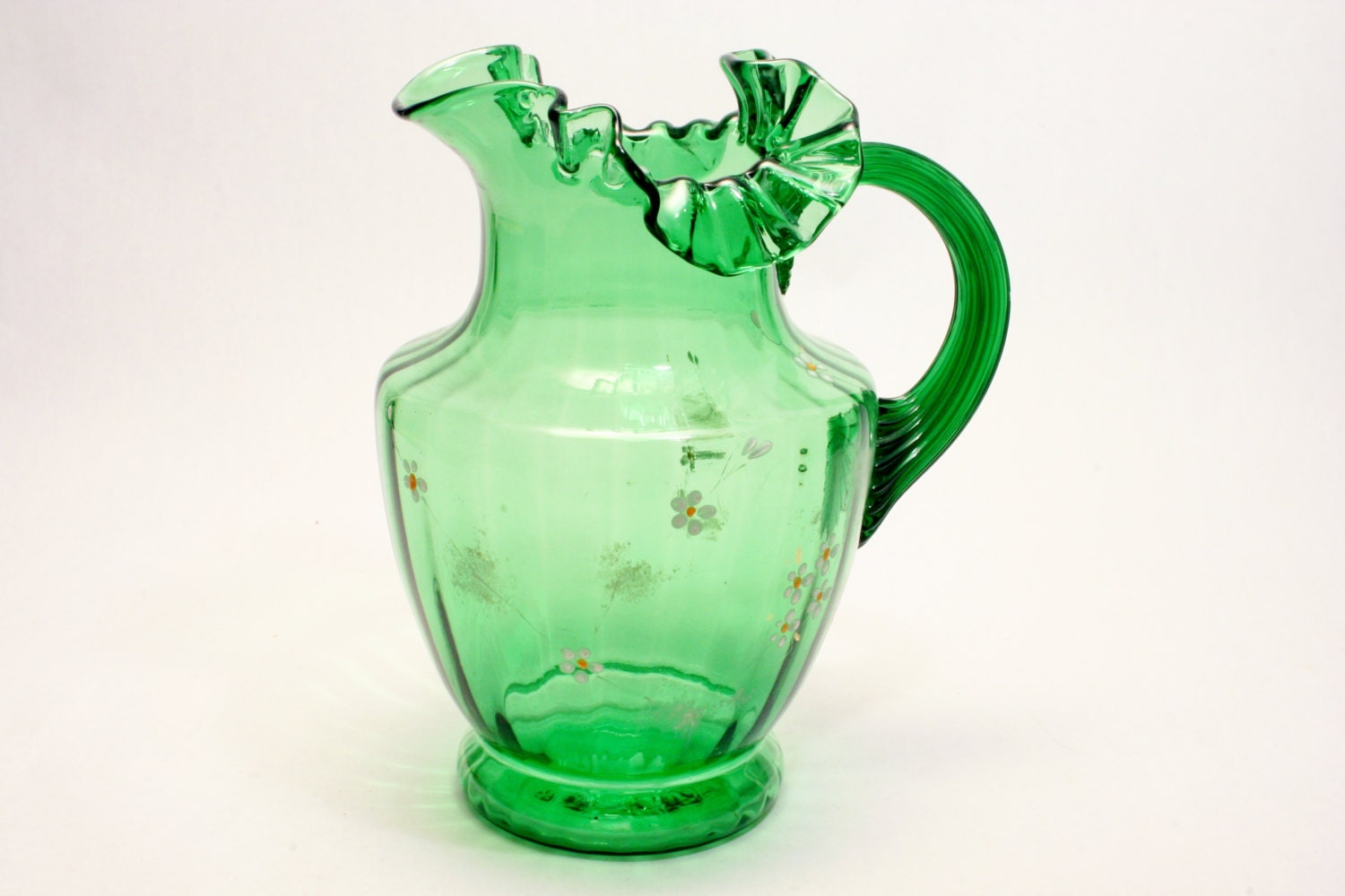 A Victorian Art Glass Emerald Green Pitcher By BasicDetails