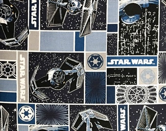 Star Wars Rebel Ships Blue 100 Percent Cotton Fabric By The Full Yard 5502