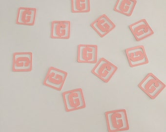 """Block """"G"""" Baby Shower Table/Card/Envelope Confetti"""