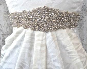 Wedding Dress Sash, Bridal Sash, Wedding Sash, Wedding Sash Crystal, Rhinestone Wedding Sash, Crystal Sash Belt, Bridal Sash Ivory