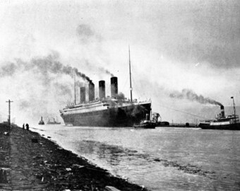 Titanic Sea Trials, 1912, Ireland : Photo Print