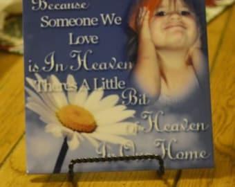 Custom Photo Tile, Memorial Tile, In Memory Tile, Sympathy Gifts, Bereavement Gifts, Personalized Tile, Ceramic Photo Tile