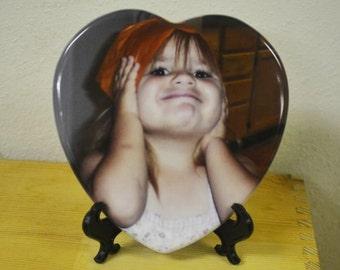 Heart Photo Tile, Custom Heart Tile, Photo Tile, Photo Gift, Memorial Gift, Custom Tile, Sympathy, In Memory Gifts