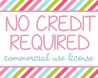 No credit required commercial use license - good for one paper pack or one clipart set