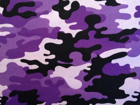 Purple Camo Fabric By The Half Yard Camouflage Fabric