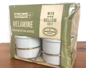 Vintage relish set Sheffield melamine new old stock