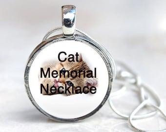 Cat Memorial Jewelry Pet loss necklace, custom cat photo pendant, cat death, loss of cat gift cat custom necklace