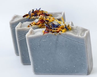 Cambrian blue clay soap with spearmint and eucalyptus