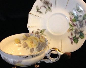 Fine China Tea Cup and Saucer Made in Japan