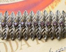Vintage USSR  brooch//Silver plated  brooch//Latvian Soviet brooch//USSR time brooch//Glass stones//