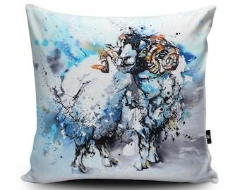 Sheep Cushion, Ram Pillow, Ram Cushion, Sheep Pillow, Sheep Gift, Sheep Cushion Cover, Ram Homemade Vegan Cushion, 45cm/60cm