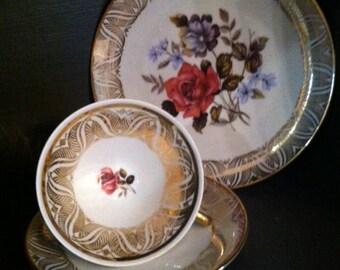 Stunning and Rare Winterling Tea Set extensive Gold Gilt Schwarzenbach Germany Bridal Tea Party  Tea Lovers Gift Idea
