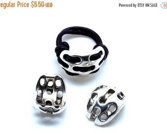 On Sale NOW 25%OFF Zamak Leather Ring Component Antique Silver Z1163 Qty 1