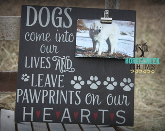 Dog Lover Gift, Dog Memorial Rustic Sign for Pet Lover, Dog Mom