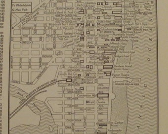 Atlantic City Map Atlantic City New Jersey Map Business Center Places On The