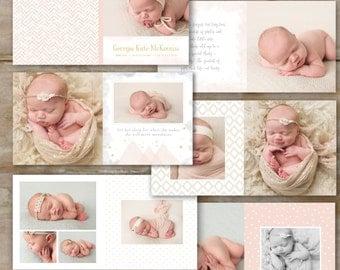 Baby Album Template for Photographers - Baby Photo Book Template - Photography Album Template for Photoshop - newborn baby album