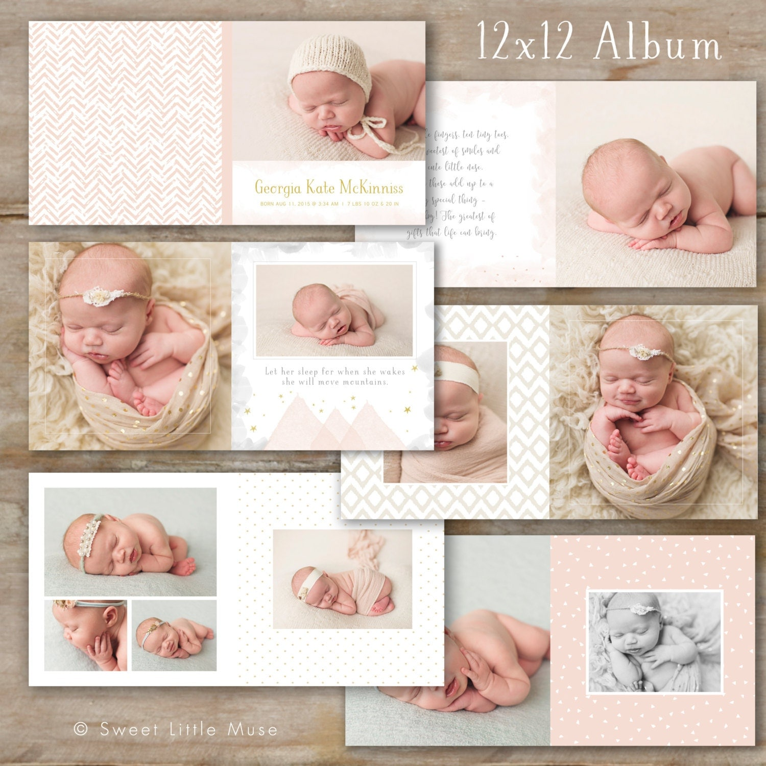 Baby Album Template for Photographers Baby Photo Book