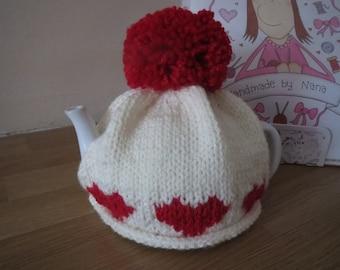 Handknitted tea cosy