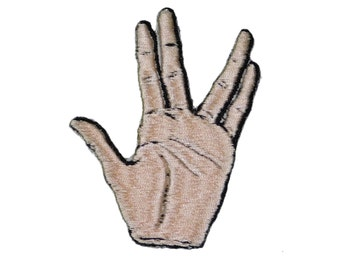 Mr. Spock Star Trek Movie Logo (Live Long and Prosper) Iron on Patch Emblem human-Vulcan~sci-fi