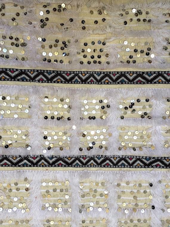 White Berber 3x5 Wedding Berber Blanket Moroccan Rug Vintage