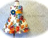Girls Easter Dress, Toddler Easter Dress, Bright Floral Print, Special Occasions, Church, Sunday, Wedding, Sizes 2T - 5 by 8th Day Studio