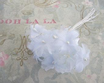 Vintage Powder Blue Millinery Flowers Made in Korea Blue Vintage Flowers