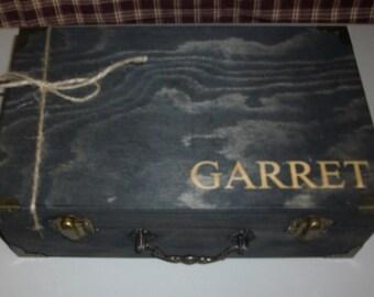 Laser Engraved -Groomsmen Gift Box - Bridesmaids Gift Boxes - Maid of Honor Gift Box - Best Man Gift Box - Rustic Wedding Boxes