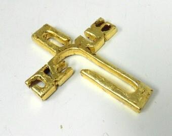 JESUS Wood Cross, Decorative Cross, Wall Cross, Cross Wall Decor, Mahogany Wood Cross, Gold Leaf Cross,Wall Cross Decor,Wall Hanging, 6.75'H