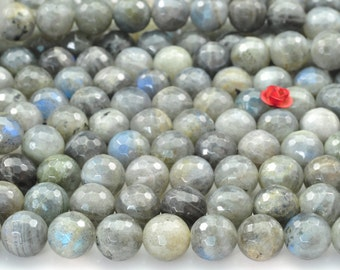 38 pcs of Labradorite faceted round beads in 10mm