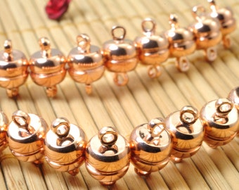 20 Sets of Rose Gold plated clasp, Magnetic Clasp in 7mm