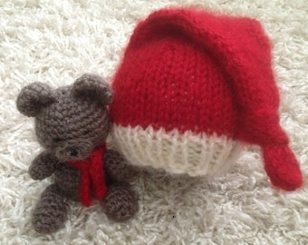 Newborn christmas buddy bear set