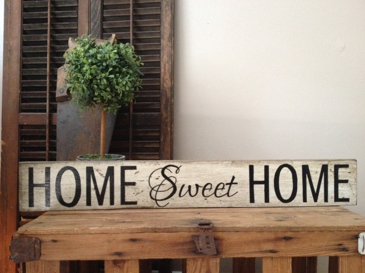 Lovely Handmade home sweet home sign by Cynthiaswoodensigns