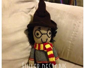 Crochet harry potter, harry potter stuffie, harry potter decorations, harry potter doll, harry potter