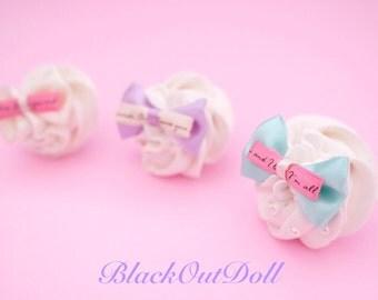 Whipped Cream Sweet Treat Ring Kawaii Harajuku Lolita Fairy Kei Decora Jewelry