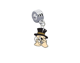 Wake Forest Deamon Deacons European Charm for Bracelet, Necklace & DIY Jewelry
