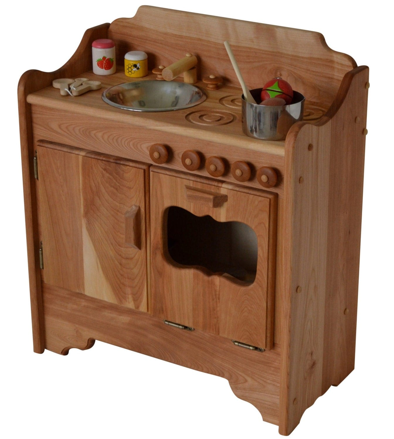 Hardwood Play Kitchen Waldorf Wooden Play Kitchen Wooden Toy