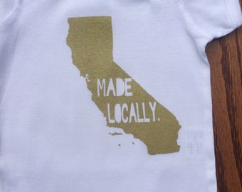 Made Locally California onesie